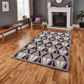 HK 1374 grå lila rektangeln mattor moderna mattor
