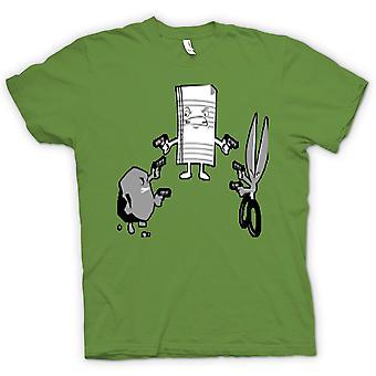Womens T-shirt - Rock Paper Scissors Shoot - Out
