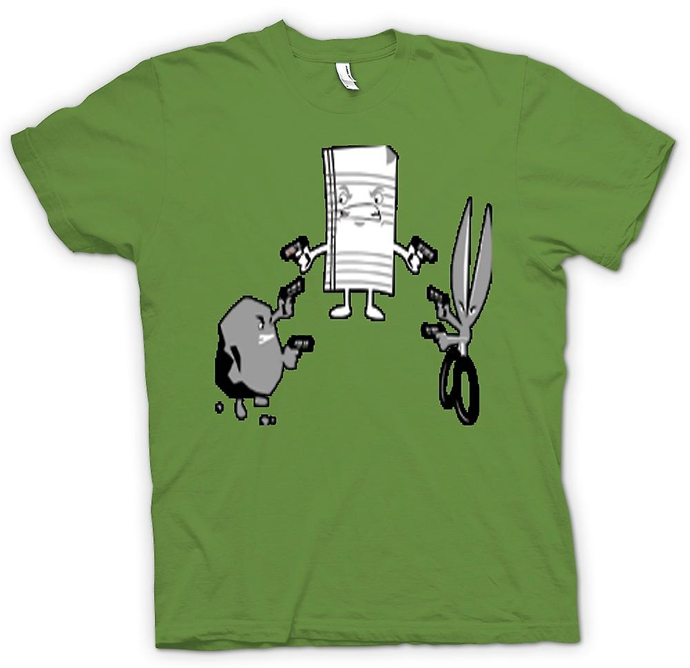 Heren T-shirt - Rock Paper Scissors Shoot - uit