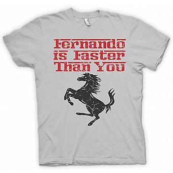 Mens T-shirt - Ferrari - Fernando Is Faster Than You