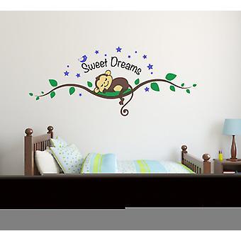 Full Colour Sweet Dreams Cute Monkey Wall Sticker