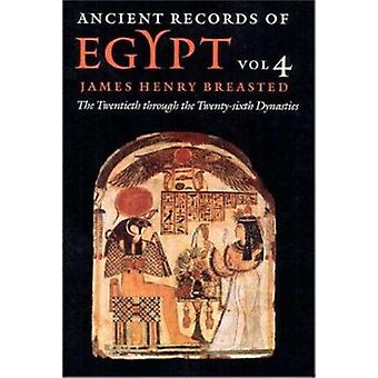 Ancient Records of Egypt - Volume 4 - The Twentieth Through the Twenty-