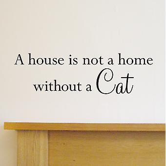 Cat Quote Wall Art Sticker