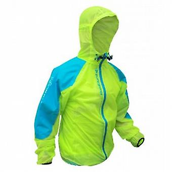 Top Ultralight Waterproof Jacket Lime Green/Electric Blue Mens