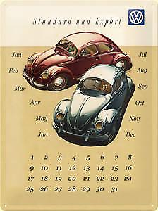 VW Beetles large metal everlasting calendar sign