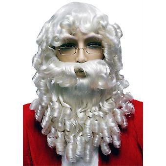 Curly Santa Set White