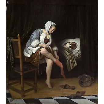The Toilet, Jan Steen, 50x44cm