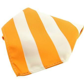 David Van Hagen listrado poliéster bolso quadrado - laranja/branco