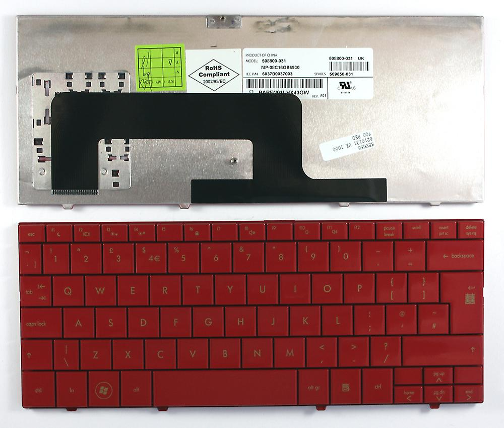 Compaq Mini 730EQ UK rouge mise en remplacement clavier d'ordinateur portable