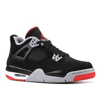 Air Jordan 4 Retro Bg (Gs) 'Bred' - 408452-060 - Shoes