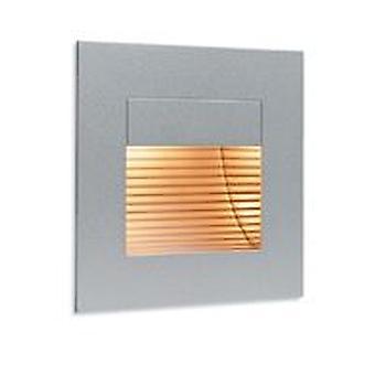 Firstlight-1 ljus inomhus vägg & steg ljus satin stål, ut glass Cover-1132SS