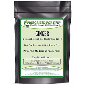 Ginger - 5% Gingerol (HPLC) Natural Root Extract Powder (Zingiber officinale)