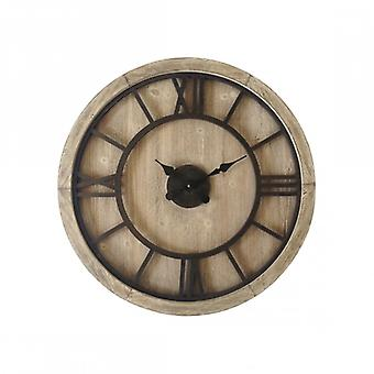 Furniture Rebecca Clock From Wall Wood Iron Style Industrial Industrial Modern 70x70x5.5