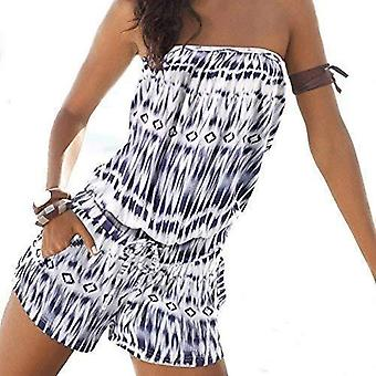 Vrouwen & #039, s Womens playsuit blote rug zomer strapless Jumpsuits