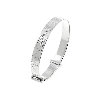 Eternity Sterling Silver Engraved Expanding Baby Bangle