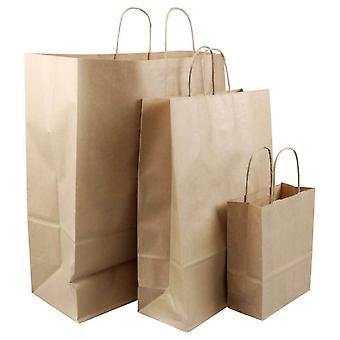 Brown Paper Bag Kraft Eco recycelbare Geschenk-Shopping-Retail Bags