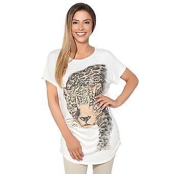 KRISP Leopard Print Oversized T-Shirt