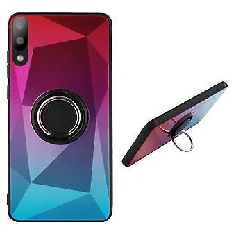 Rückseite Abdeckung Ring/Magnet Aurora Samsung A10/M10 rosa + blau