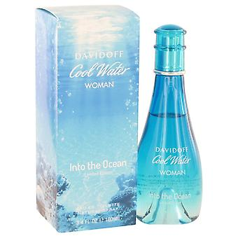 Cool Water Into The Ocean by Davidoff Eau De Toilette Spray 3.4 oz / 100 ml (Women)