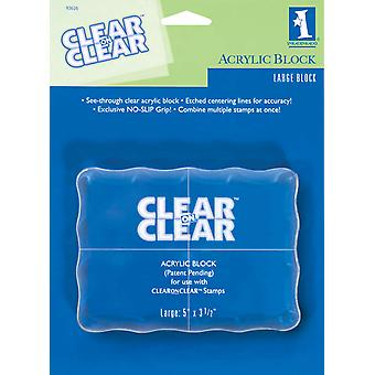 Inkadinkado Clear On Clear Acrylic Block Large 5