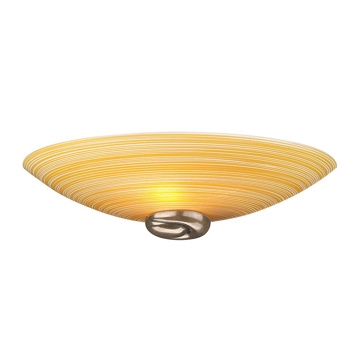 David Hunt SWW0763 Swirl Wall Washer In A Bronze Finish With Italian Amber Glass