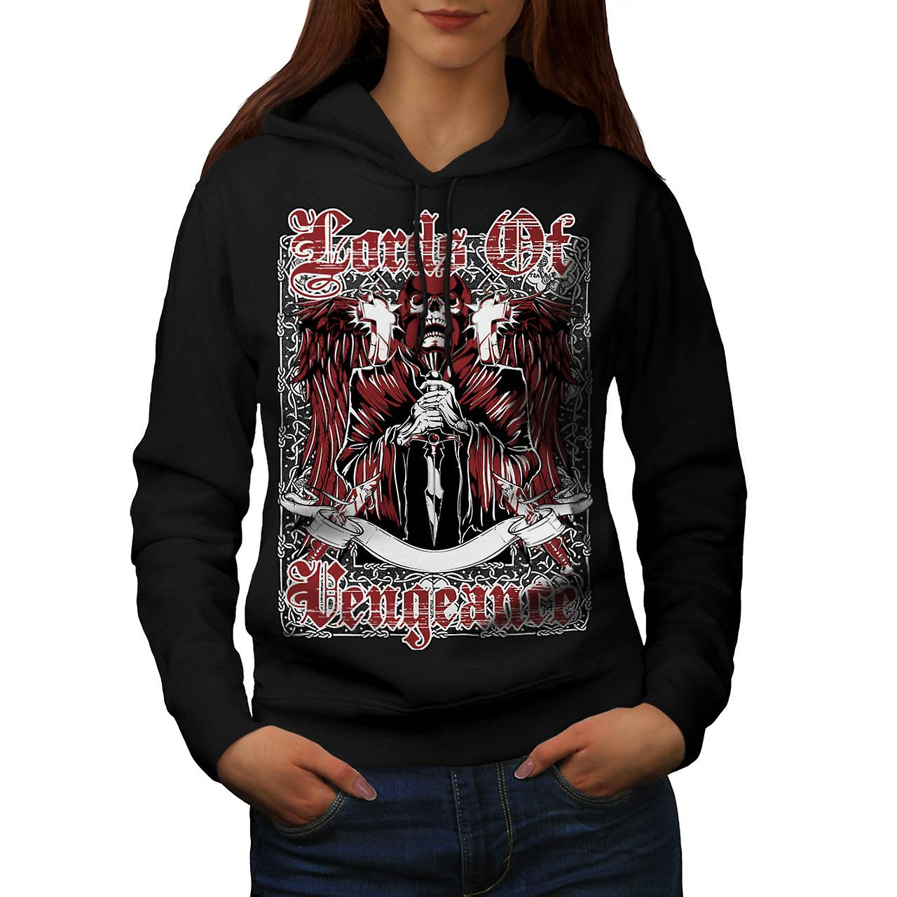 Lords Of Vengeance Monster Skull kvinner svart Hoodie | Wellcoda