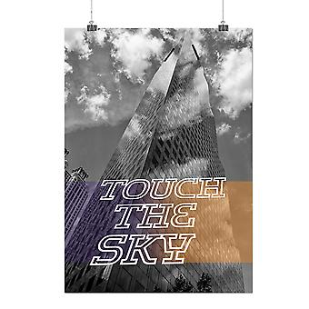 Matte or Glossy Poster with Touch Sky City Fashion Skyscraper | Wellcoda | *q143