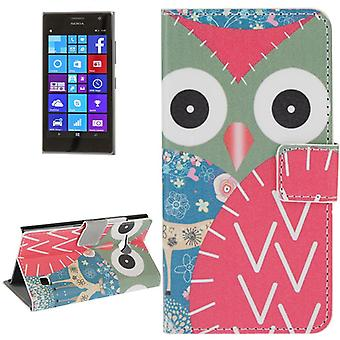 Mobile phone case pouch for mobile Nokia Lumia 730 OWL with deer