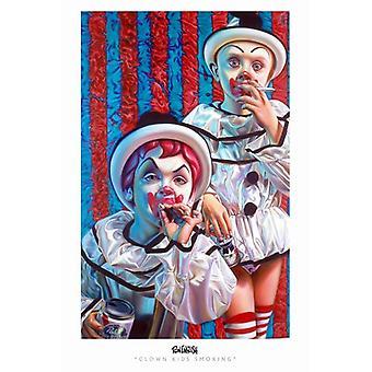 Clown Kids Smoking Movie Poster (11 x 17)