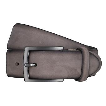 SAKLANI & FRIESE belts men's belts suede grey 5034