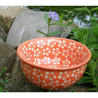 Vågorna edge Bowl, Ø14cm, ↑6, 5 cm, orange, Bolesławiec BSN m-4330