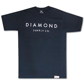 Pierre de diamant Supply Co. coupé Premium coton T-shirt Navy