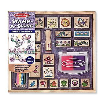 Melissa & Doug Stamp A Scene Fairy Garden Childrens Craft 4 years+