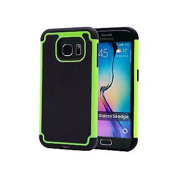Caso de prueba de choque + stylus para Samsung Galaxy S6 (SM-G925) - verde