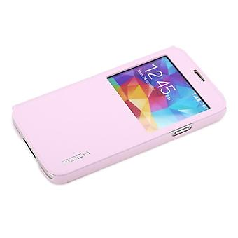 Oprindelige ROCK vinduet smart cover Pink for Samsung Galaxy S5 G900 G900F