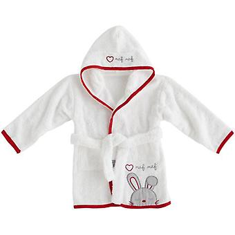 Naf Naf Bathrobe 100% Cotton Red Rabbit (Textile , Child's , Swimwear)