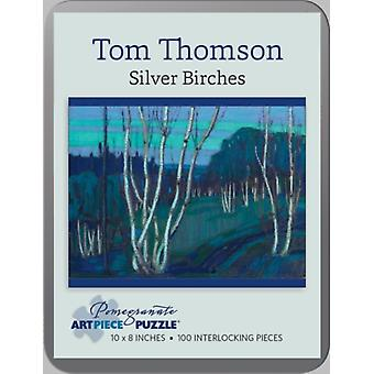 Tom Thomson: Silver Birches 100-piece Jigsaw Puzzle (Hardcover)