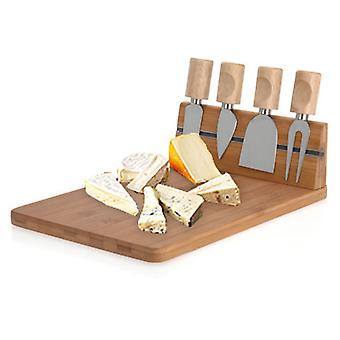 Bigbuy Bamboo Cheese Board Set (5 Pieces)