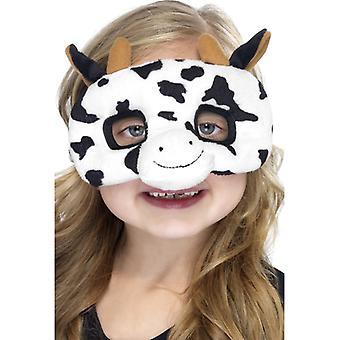 Ku maske barn dyr maske kua maske øye maske plysj barn drakt
