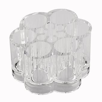 TRIXES Clear Acrylic Round Lipstick Holder Organiser