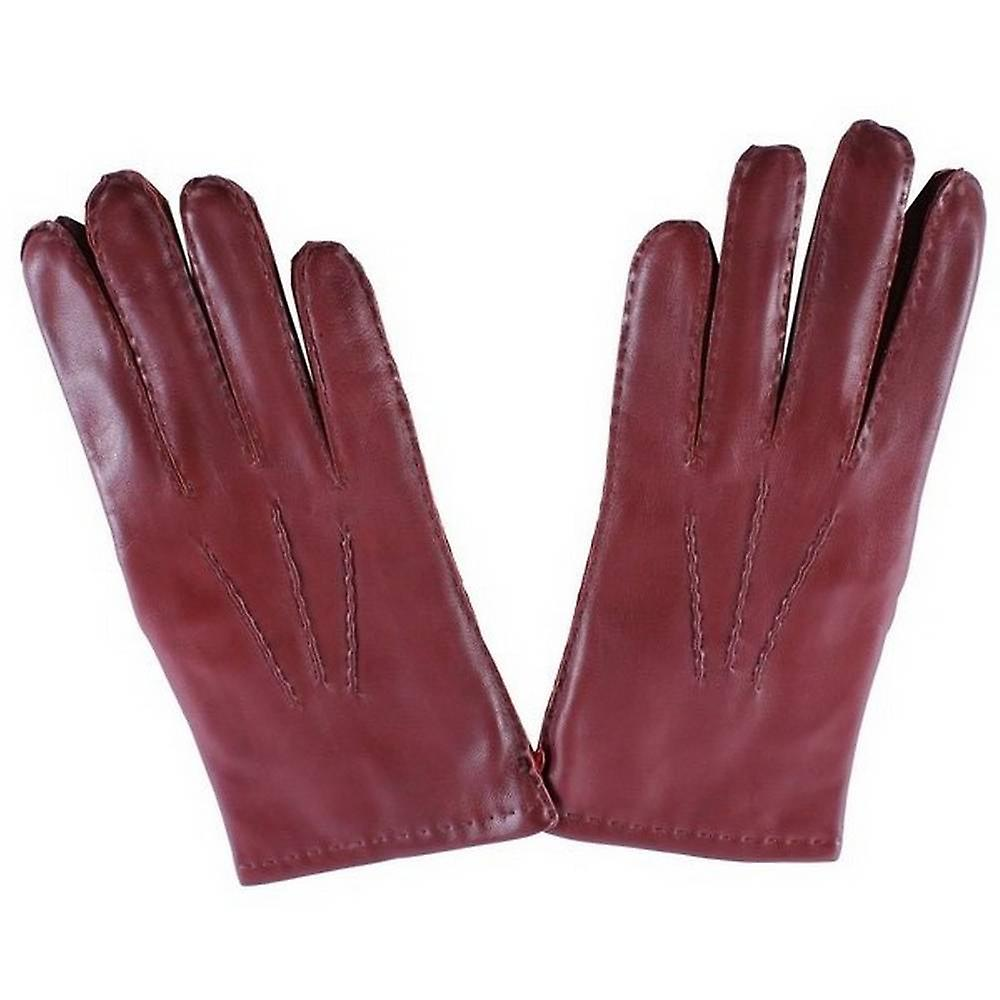 Dents Cashmere Lined Chelsea Leather Gloves - English Tan