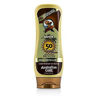 Australian Gold Lotion Sunscreen Broad Spectrum SPF 50 with Instant Bronzer - 237ml/8oz