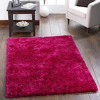 Shimmer Shaggy Rugs In Pink