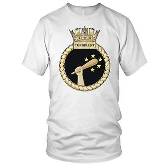 Royal Navy HMS Turbulent Kids T Shirt