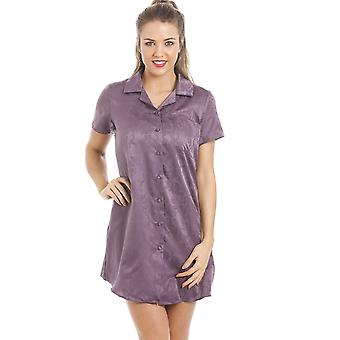 Camille Purple cotone morbido Mix coccola pelle camicia da notte