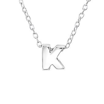 """K"" - 925 Sterling Silver Plain Necklaces"