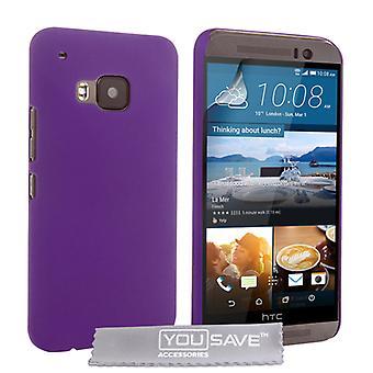 HTC M9 svårt Hybrid Case - lila