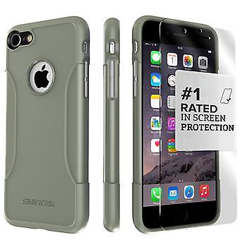 SaharaCase iPhone 8 Plus & 7 Plus militar funda verde, clásico paquete Kit de protección con vidrio templado de ZeroDamage®