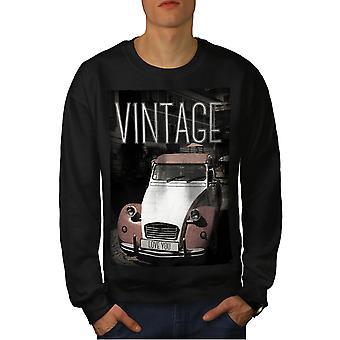 Old Car Love You Men BlackSweatshirt | Wellcoda