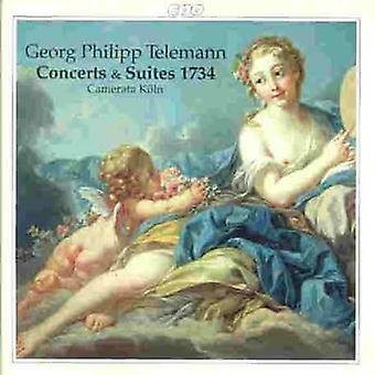G.P. Telemann - Telemann : Concerts & Suites 1734 [CD] USA import